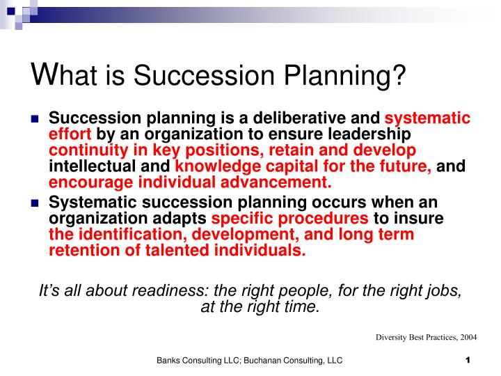 w hat is succession planning n.