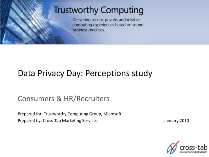 data privacy day perceptions study n.