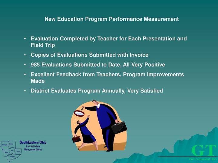 New Education Program Performance Measurement