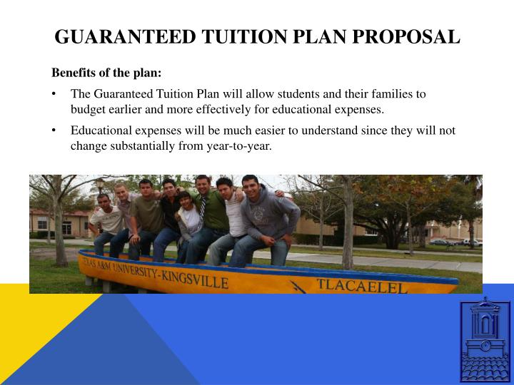 Guaranteed tuition plan proposal1