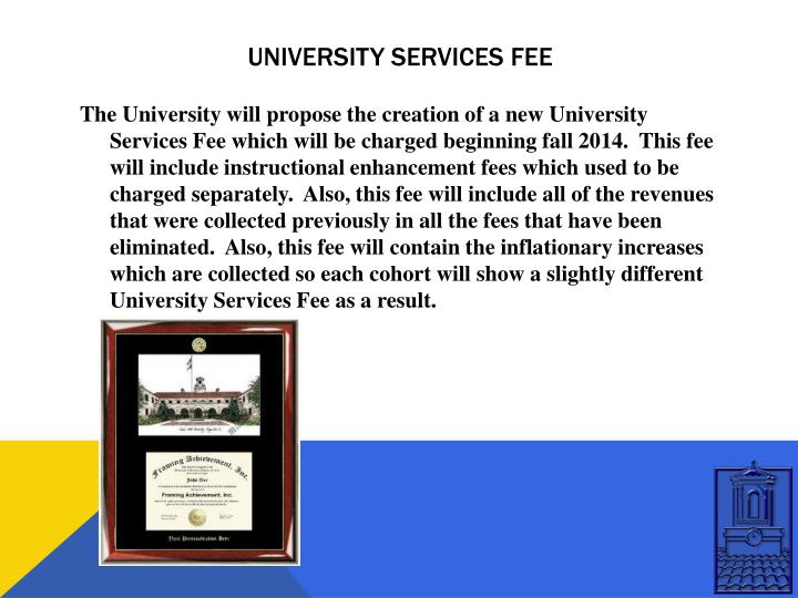University services fee