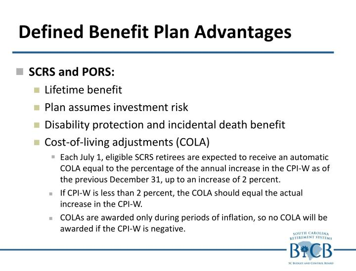 Defined Benefit Plan Advantages