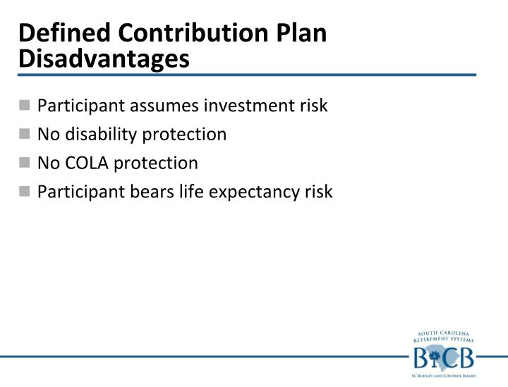 Defined Contribution Plan Disadvantages