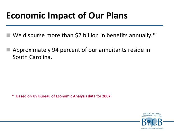 Economic Impact of Our Plans