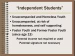 independent students