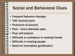 social and behavioral clues