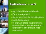 agribusiness con t
