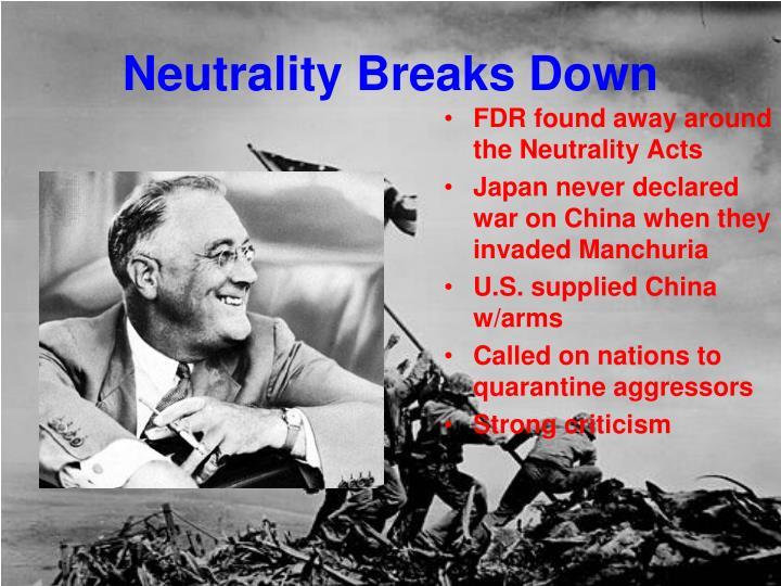 Neutrality Breaks Down