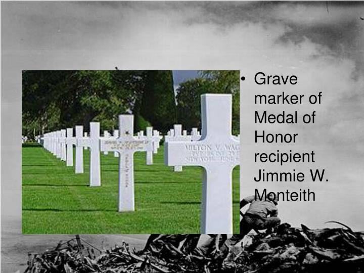 Grave marker of Medal of Honor recipient Jimmie W.