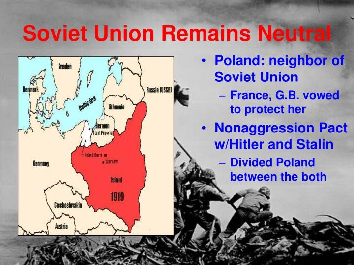 Soviet Union Remains Neutral