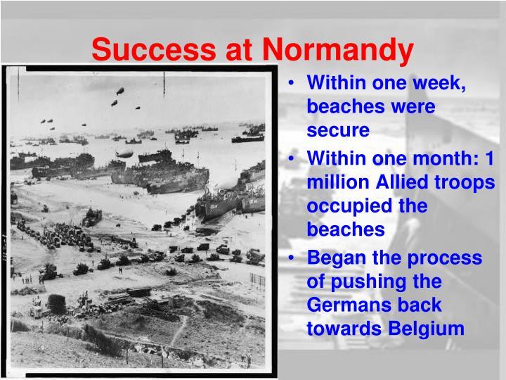 Success at Normandy