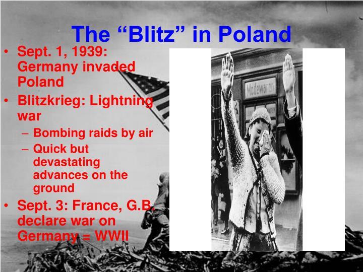 "The ""Blitz"" in Poland"