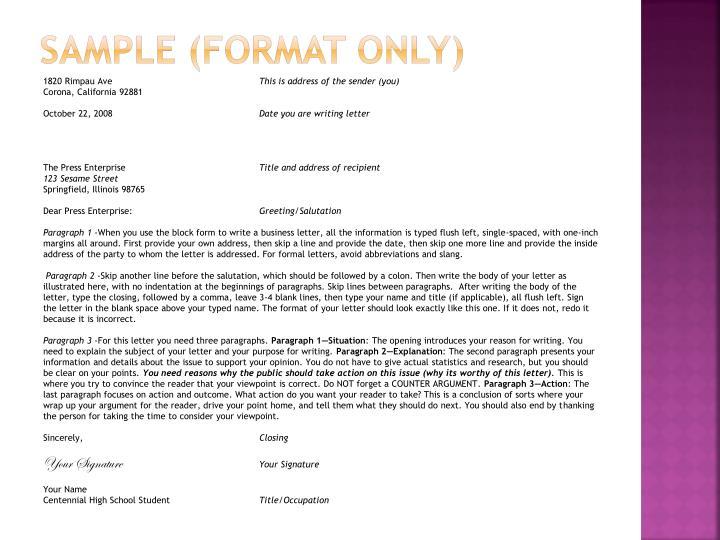 Ppt Business Letter Notes Powerpoint Presentation Id6810172