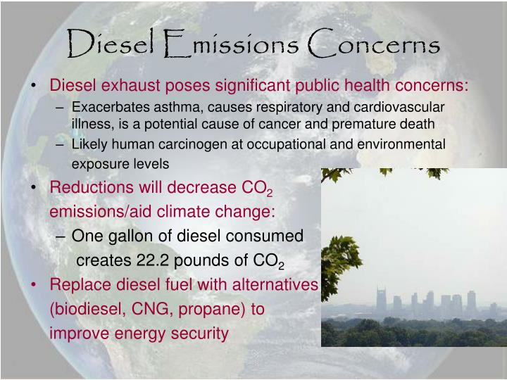 Diesel emissions concerns