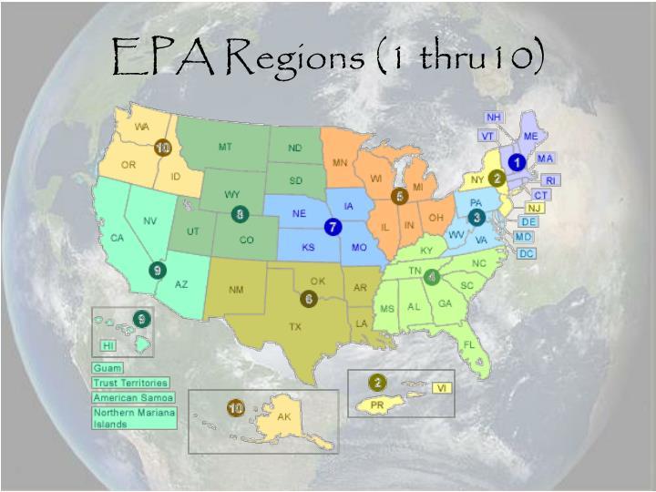 EPA Regions (1 thru10)