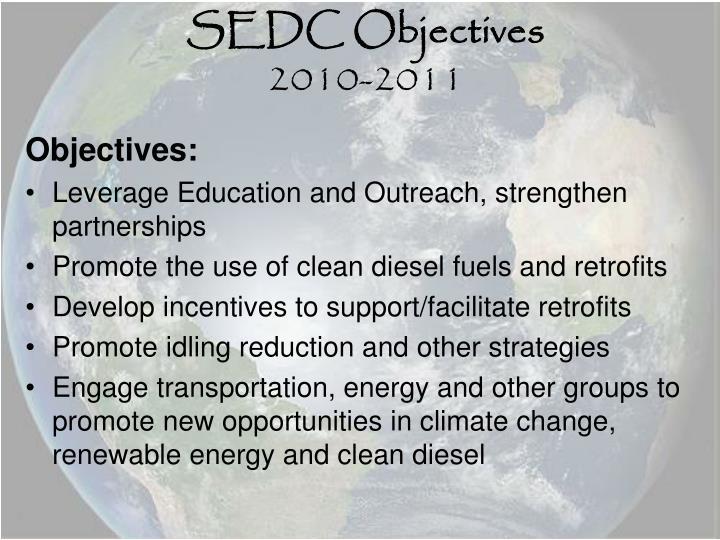 SEDC Objectives
