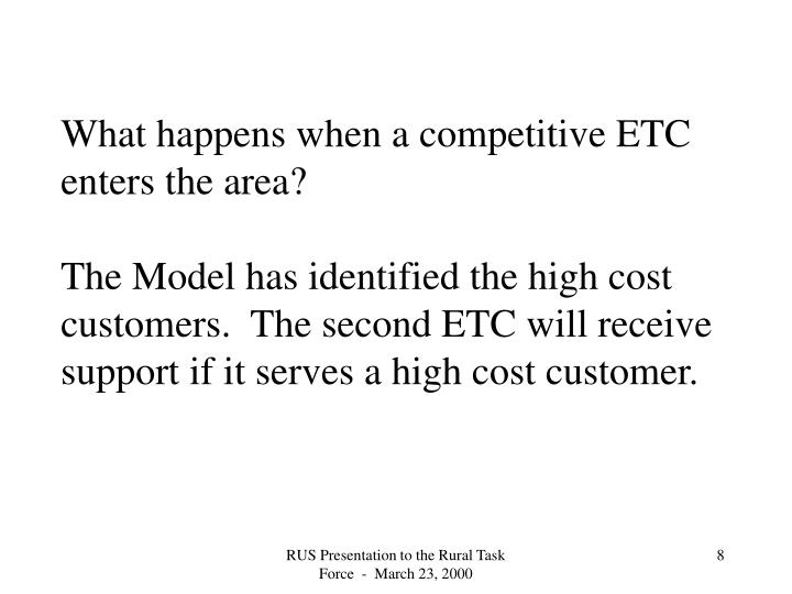 What happens when a competitive ETC enters the area?