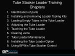 tube stacker loader training chapters