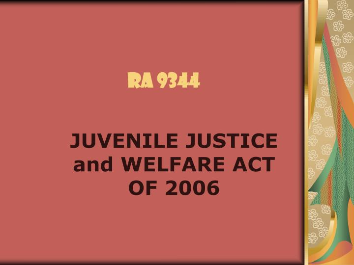 juvenile justice act philippines