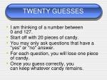 twenty guesses1