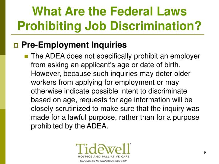 What Are the Federal Laws Prohibiting Job Discrimination?