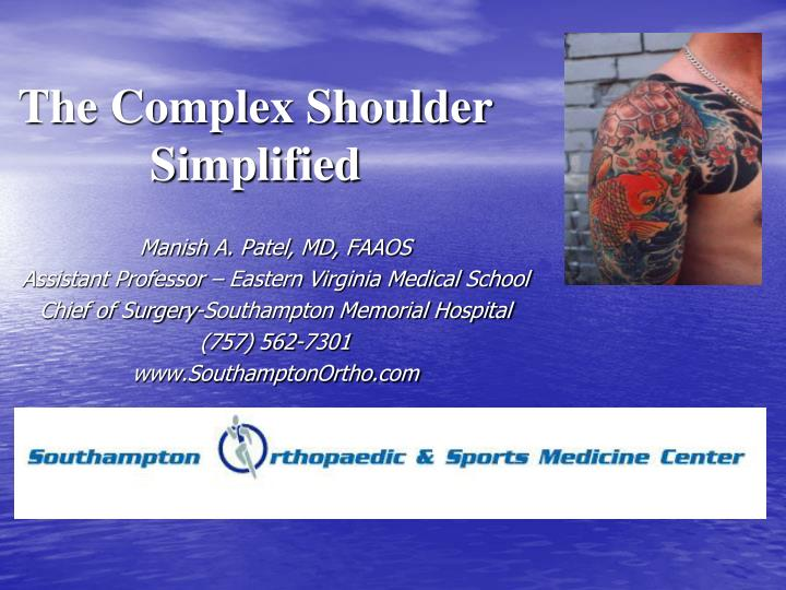 the complex shoulder simplified n.