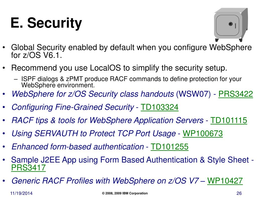 PPT - WSC Guidelines for a Healthy WebSphere Application