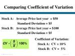 comparing coefficient of variation