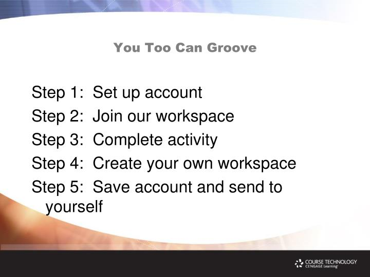 You Too Can Groove