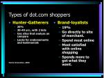 types of dot com shoppers2