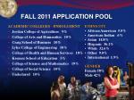 fall 2011 application pool1
