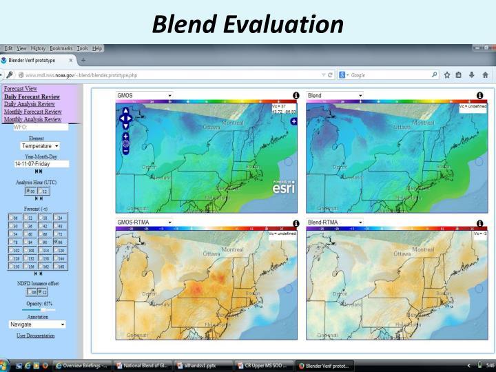 Blend Evaluation