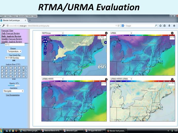 RTMA/URMA Evaluation