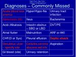 diagnoses commonly missed