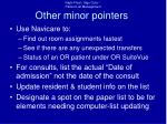 other minor pointers