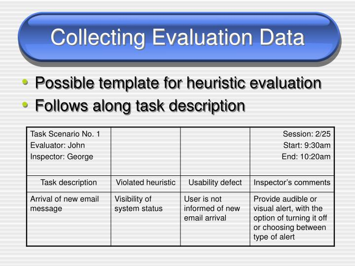 Collecting Evaluation Data