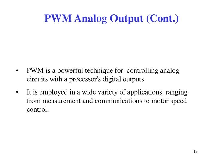 PWM Analog Output (Cont.)