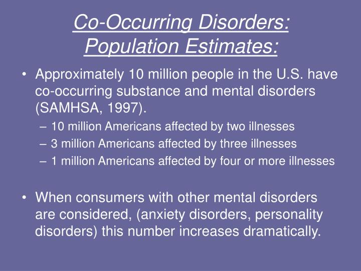 co-occurring disorders essay Examines the impact of co-occurring disorders for individuals with a dual  diagnosis,  the treatment of persons with co-occurring disorders.