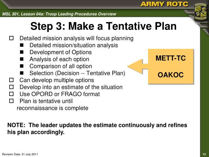 PPT - Troop Leading Procedures Overview PowerPoint ...
