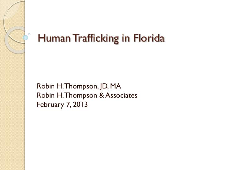 human trafficking in florida