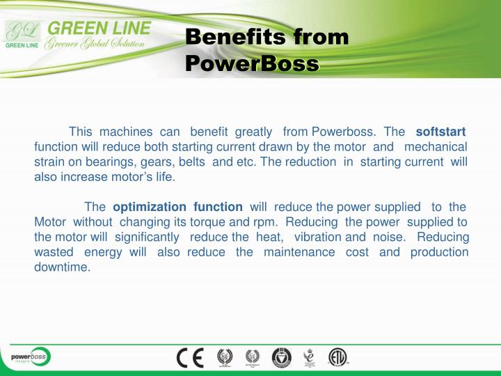Benefits from PowerBoss