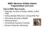 bmps minimize wildlife habitat fragmentation and loss