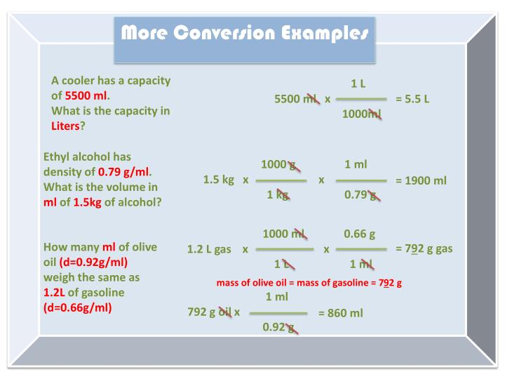 More Conversion Examples