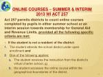 online courses summer interim 2013 wi act 2571
