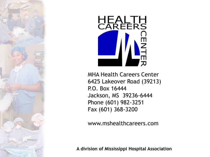 MHA Health Careers Center