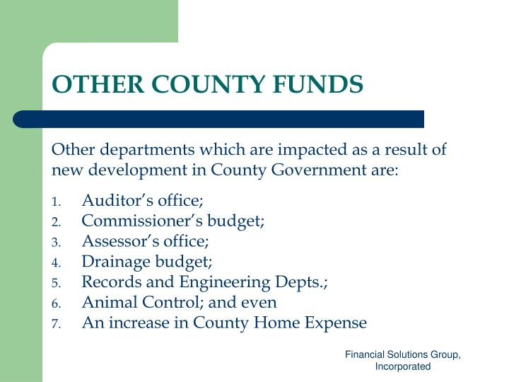 OTHER COUNTY FUNDS