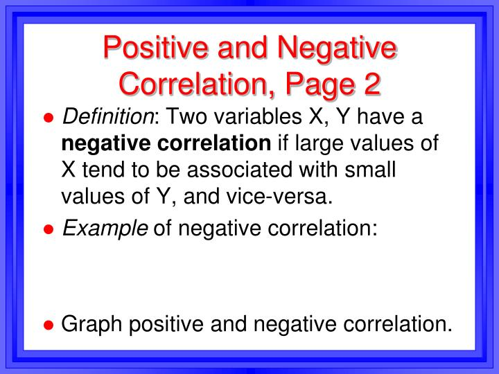 Positive and Negative Correlation, Page 2