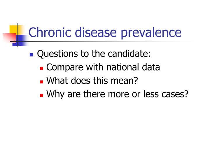 Chronic disease prevalence