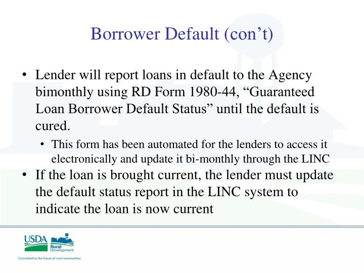 Borrower Default (