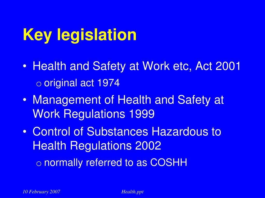 PPT - Occupational Health & Safety Management Systems: BS ...